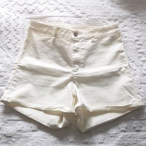 NWOT High Waisted White Shorts